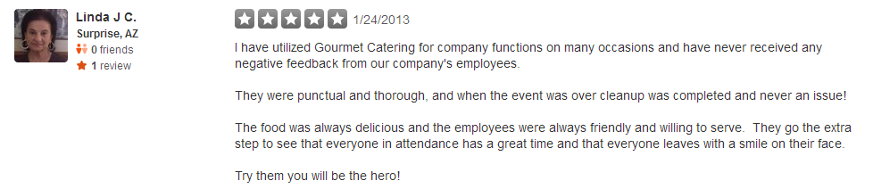 Review2GourmetCatering